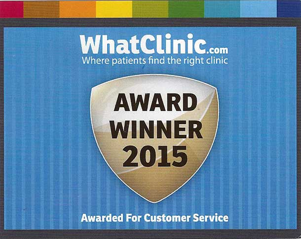 WHAT CLINIC AWARD 2015